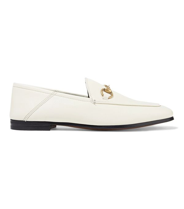 Brixton Horsebit-Detailed Collapsible Heel Leather Loafers