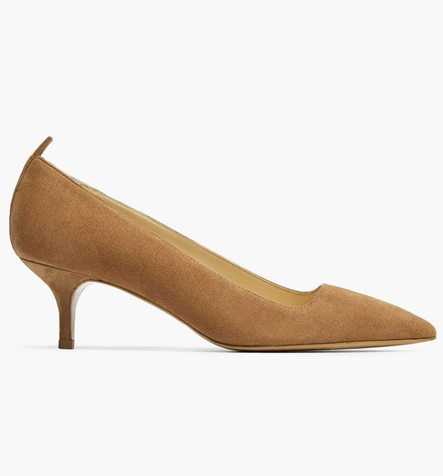Everlane The Editor Heels in Taupe