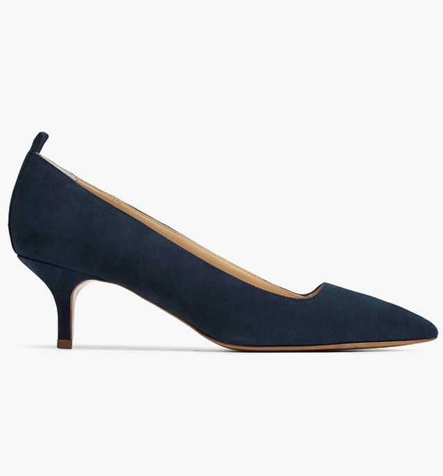 Everlane The Editor Heels in Navy