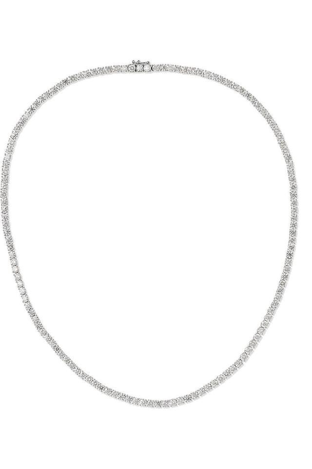 Anita Ko Hepburn 18-Karat White Gold Diamond Necklace