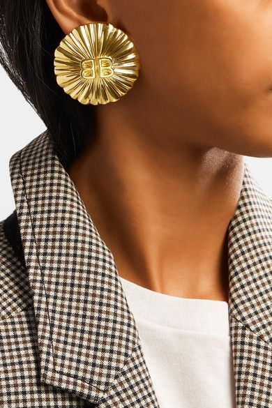 Balenciaga Gold-Plated Clip Earring