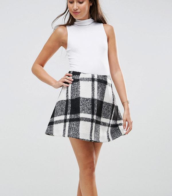 Flippy Check Mini Skirt
