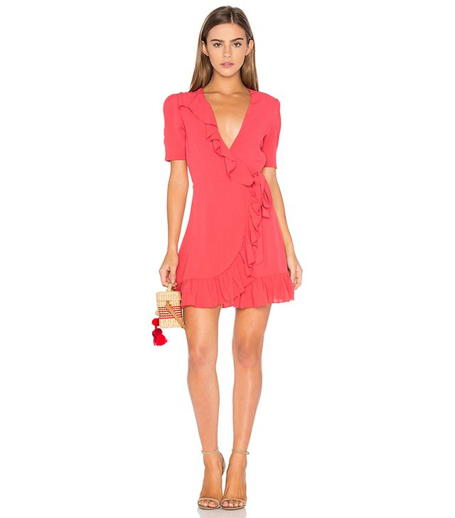 June Dress in Coral. - size S (also in XS,M)