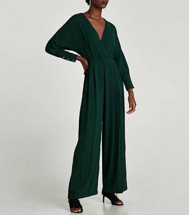 Zara Long Crossover Jumpsuit