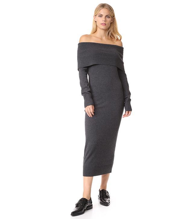 Fold Over Sheath Dress