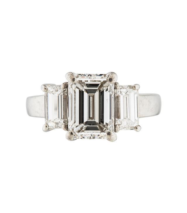 The RealReal Platinum Diamond Three Stone Engagement Ring
