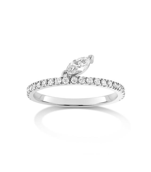 Selin Kent Defne Pavé Ring Diamond Marquise