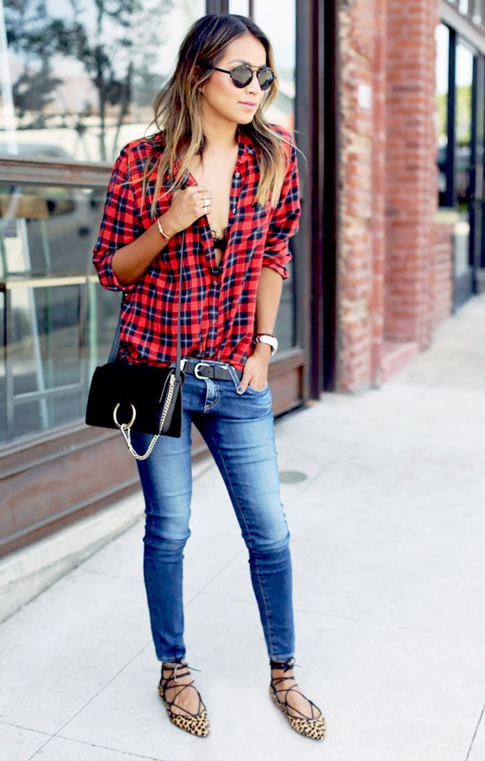 Fall Skinny Jean Outfits Who What Wear