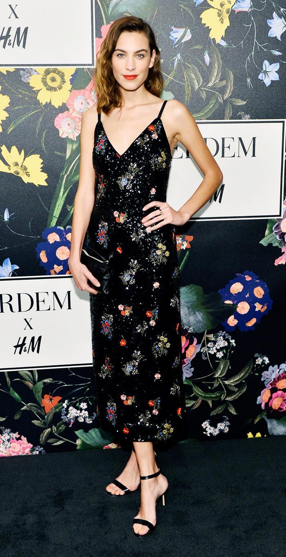 Alexa Chung Wears Erdem x H&M Dress | Who What Wear