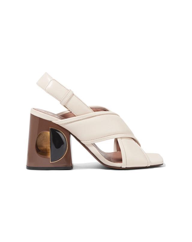 Marni Leather Slingback Sandals