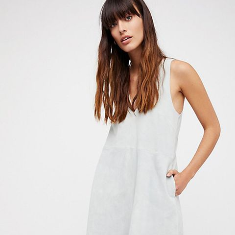 Retro Love Suede Dress