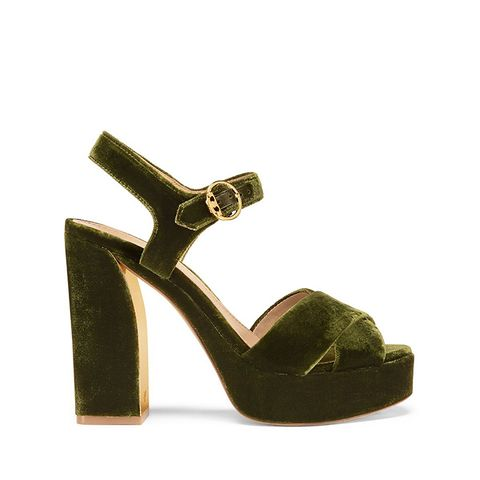 Loretta Velvet Platform Sandal