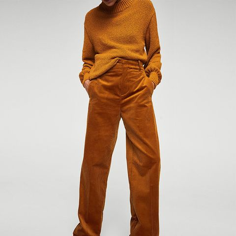 High-Waist Corduroy Trousers