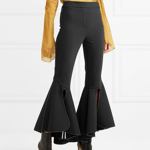 Ox Bow Cropped Crepe Flared Pants