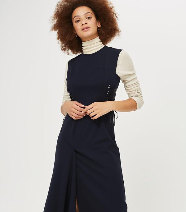Corset Side Midi Dress