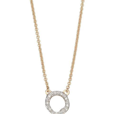 Riva Diamond Circle Pendant Necklace