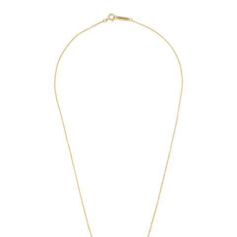 "T Smile 16"" 18-Karat Gold Diamond Necklace"