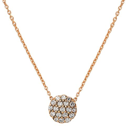 Diamond & Pink-Gold Beirut Necklace