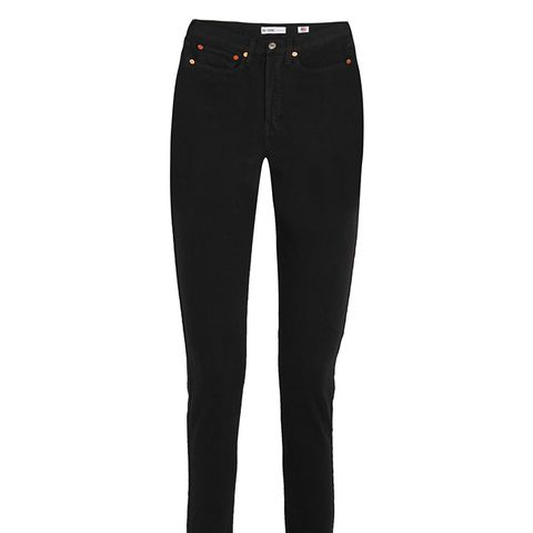 Originals High-Rise Ankle Crop Frayed Skinny Jeans