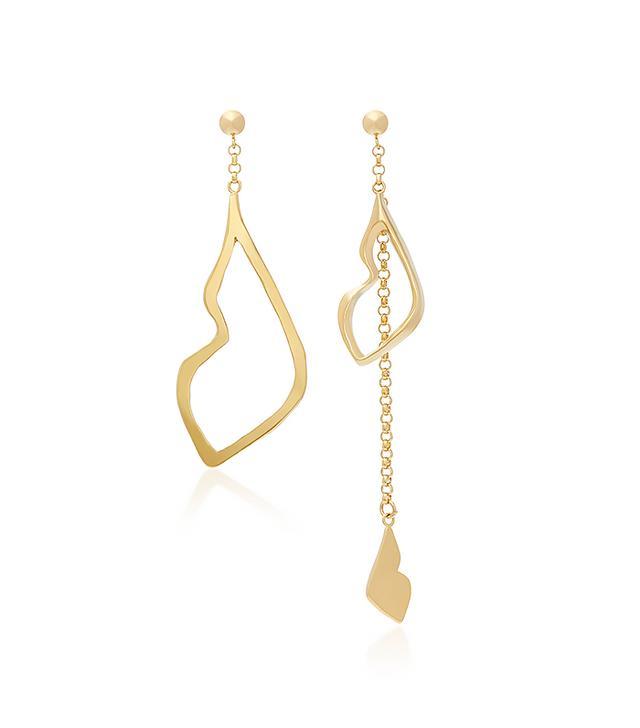 18K Gold Plated Her Kiss Earrings
