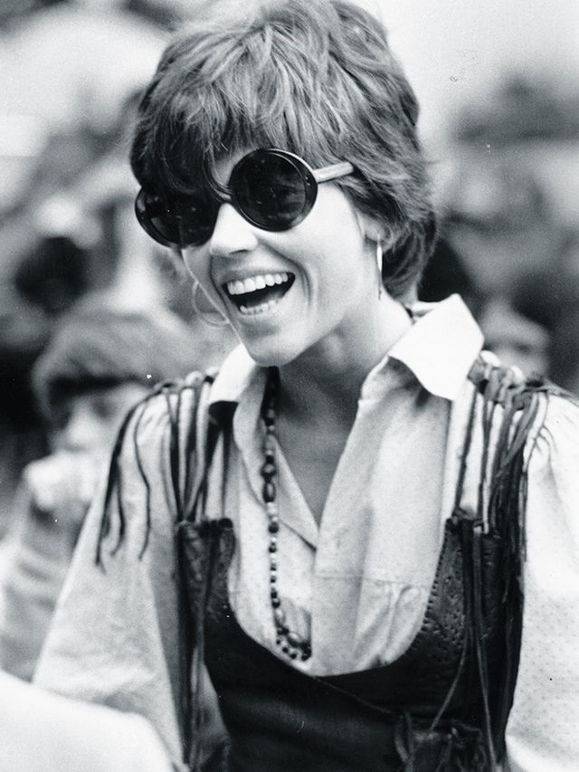 '60s fashion: rounded sunglasses were the eyewear order of the day