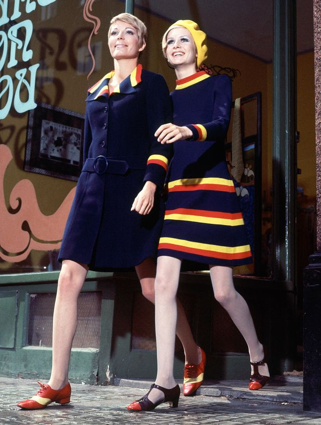 '60s Fashion: Coordinating looks were evident in shoots as well as on the street