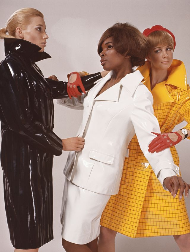 '60s Fashion: High-shine finishes took over, particularly on coats