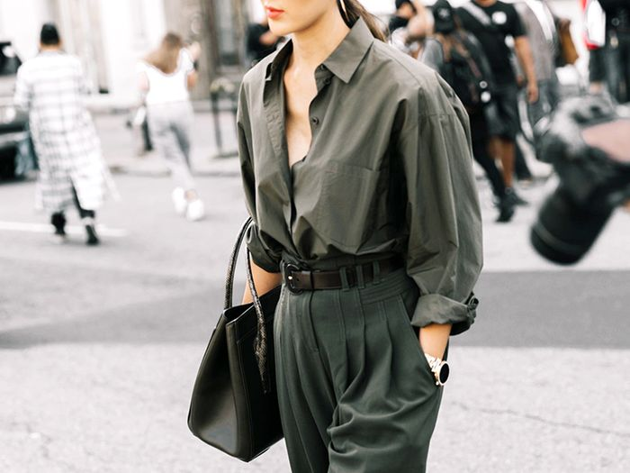 114070bec7c638 14 Ways to Mix Olive-Green Outfits to Try for Fall