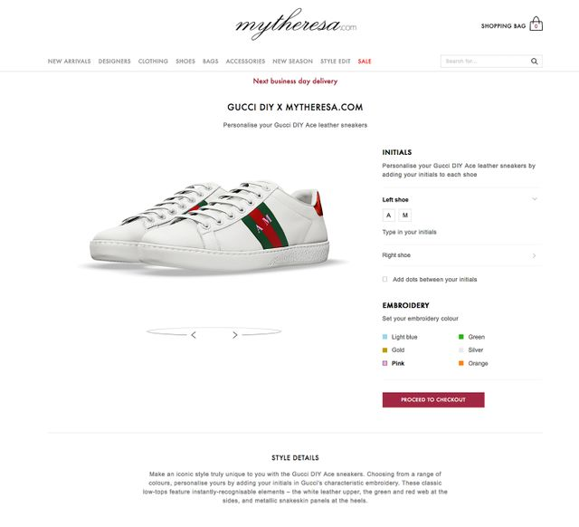 Custom Gucci Ace Sneakers MyTheresa