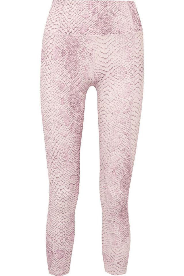 Kensington Cropped Snake-Print Stretch Leggings
