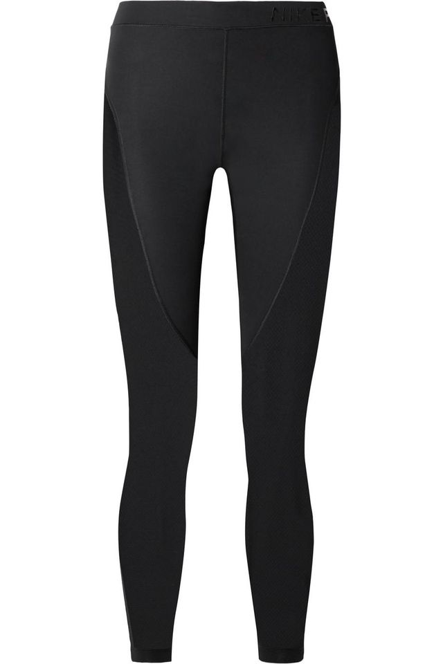 Pro Hypercool Mesh-Paneled Stretch Leggings