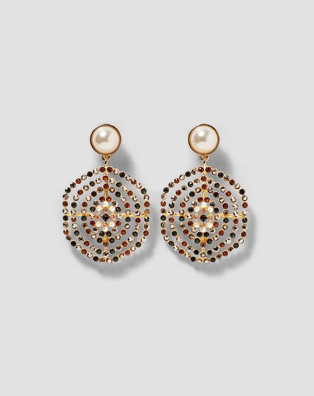 Zara Multicoloured Pearl Earrings