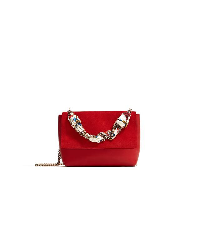 Zara Bag With Scarf Detail