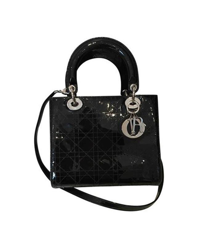 Dior Vintage Lady Dior Patent Leather Crossbody Bag