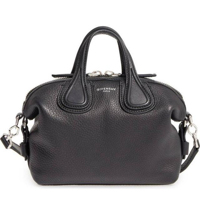 Micro Nightingale Leather Satchel - Black