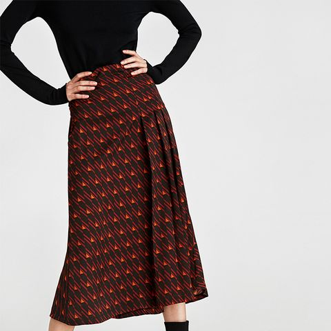 Geometric Midi Skirt