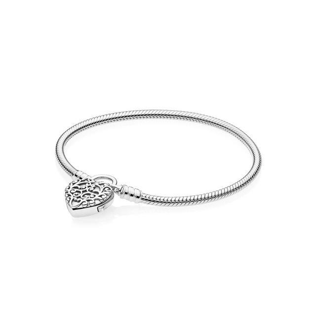 Pandora Smooth Silver Padlock Bracelet