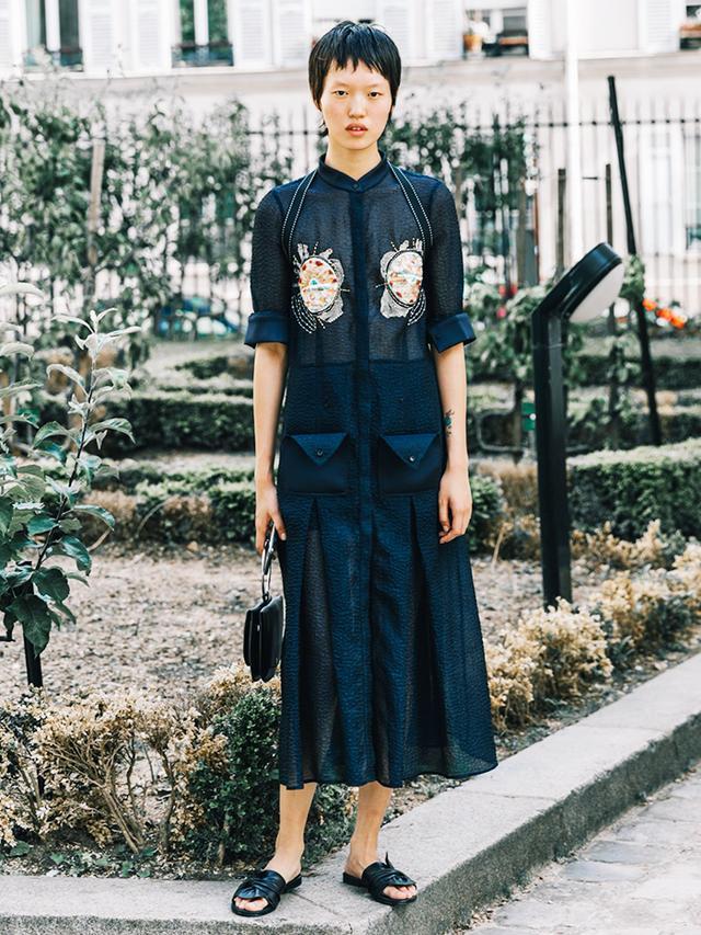Statement Blouse + Midi Skirt