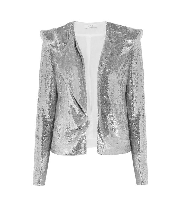 Waklyn Sequined Twill Jacket