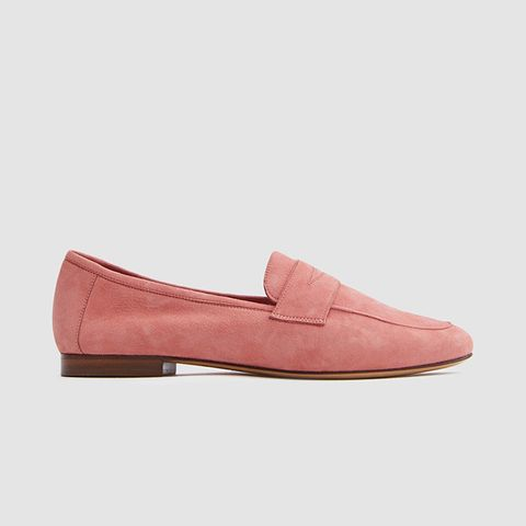 Classic Loafer in Blush Suede