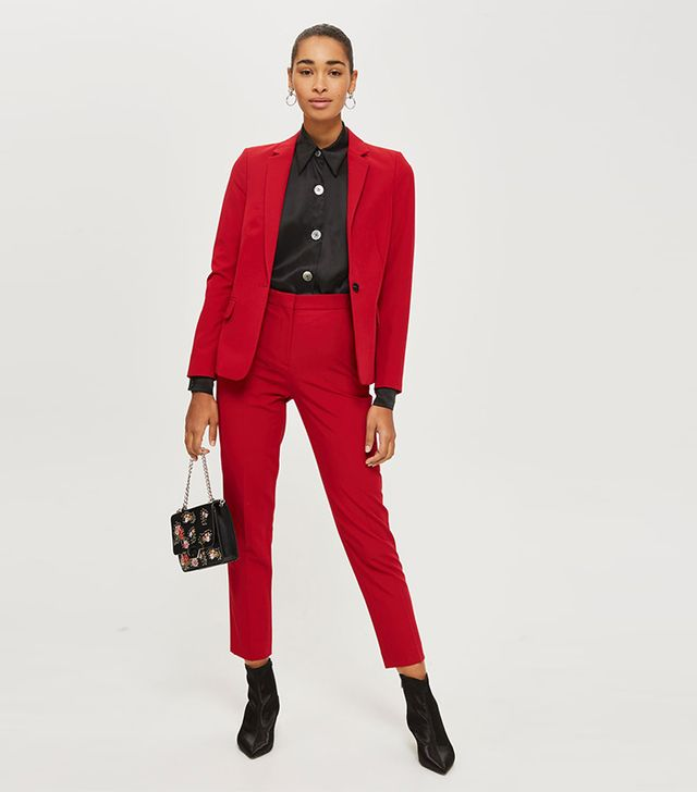 Topshop Double Breasted Suit Jacket and Trousers Set