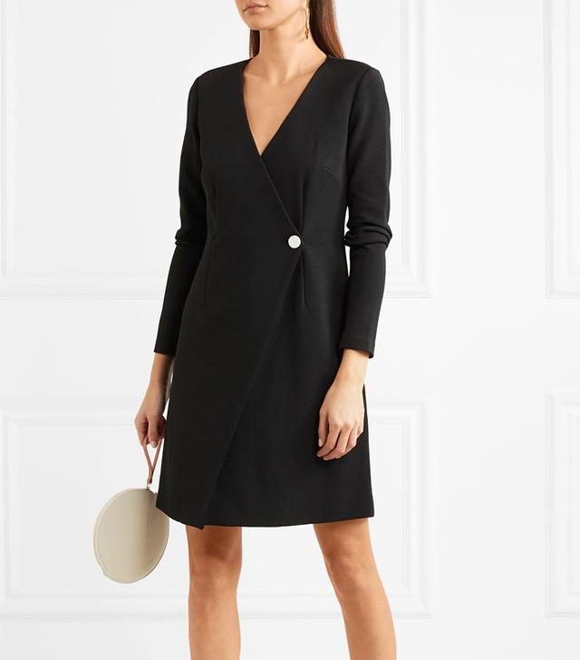 Essentials Wrap-effect Stretch-knit Dress