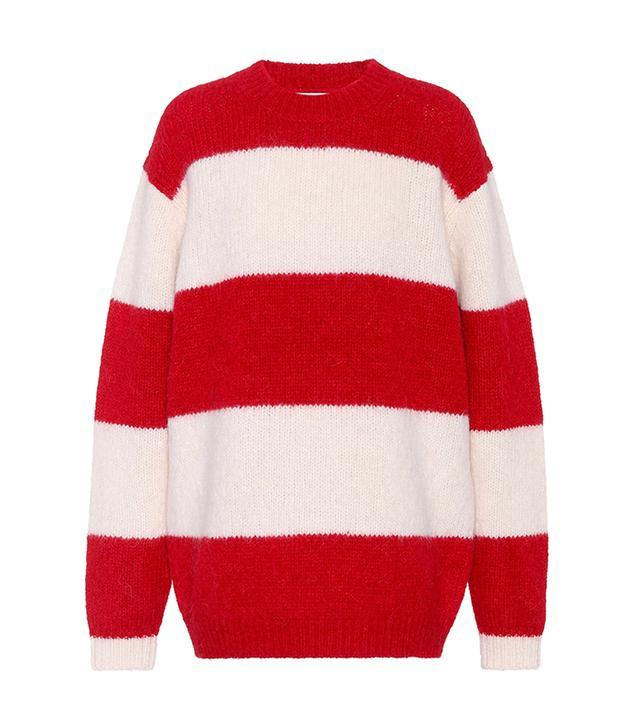 Albah striped alpaca-blend sweater