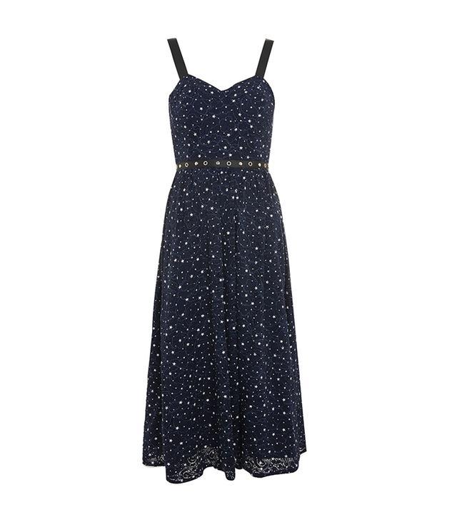 Star Bustier Midi Dress