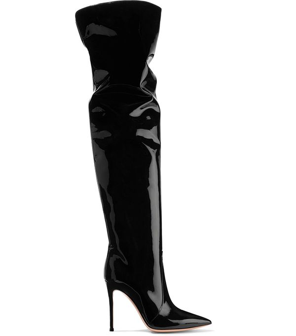 Rennes Patent-leather Over-the-knee Boots