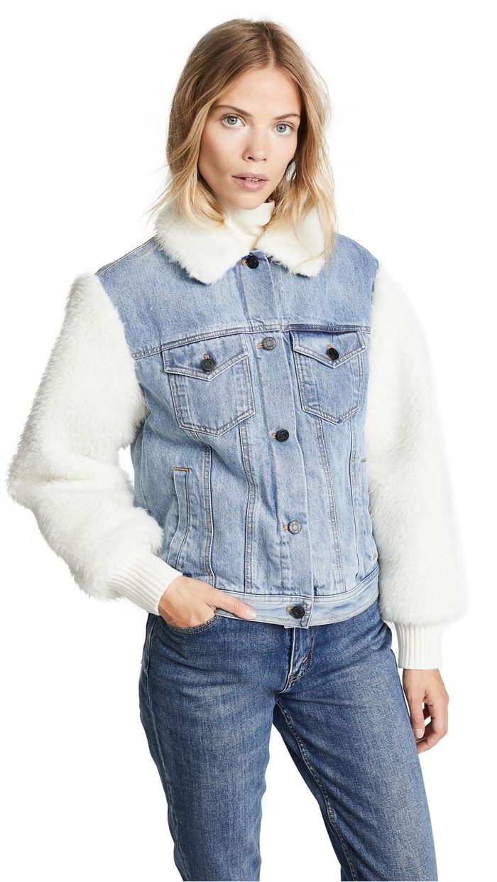 16 Sherpa-Lined Denim Jackets to Cosy Up in This Winter