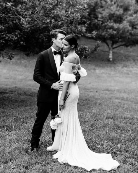 Sara Donaldson Bell Sleeve Wedding Dress