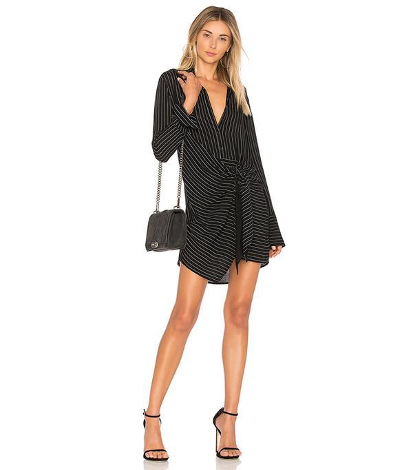 Tie Waist Dress in Black. - size S (also in XS,M,L)