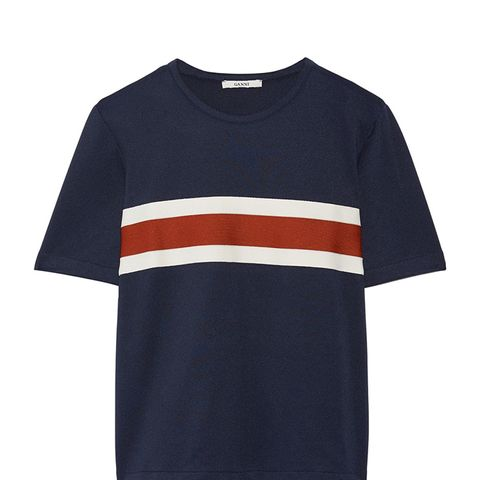 Dubois Striped Stretch-Piqué Top