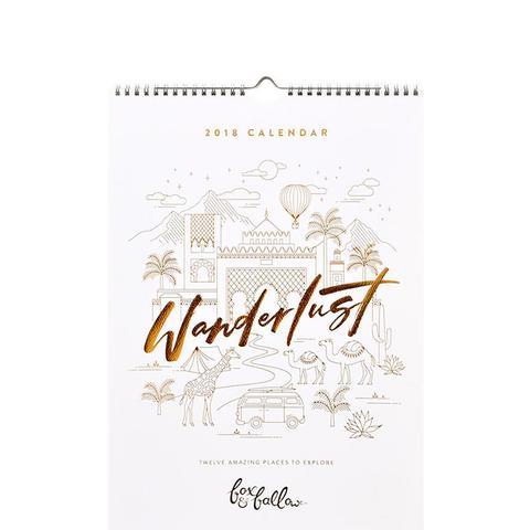 Wanderlust 2018 Calendar